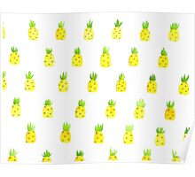 Pineapple Print Poster
