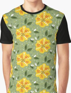 Yellow Primrose Flower Graphic T-Shirt