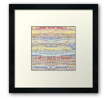 Splish Splash Frothy Flow Framed Print