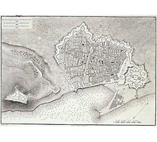 Vintage Map of Barcelona Spain (1806) Photographic Print