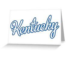 Kentucky Script White  Greeting Card