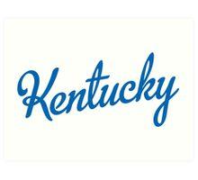 Kentucky Script Blue  Art Print
