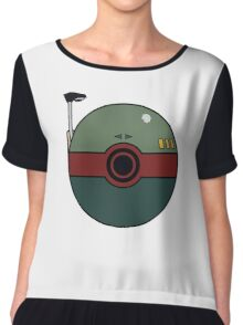 Boba Fett Pokemon Ball Mash-up Chiffon Top