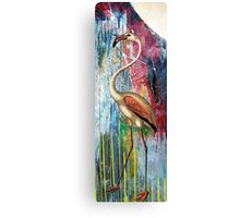 MOONLIGHT FLAMINGO Canvas Print