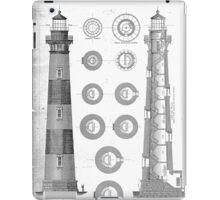 Vintage Bodie Island Lighthouse Diagram iPad Case/Skin