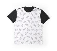 Pattern with small Bear. Black and white freehand drawing Graphic T-Shirt