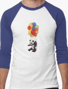 Panda balloon Men's Baseball ¾ T-Shirt