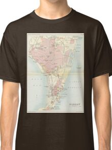 Vintage Map of Bombay India (1893) Classic T-Shirt