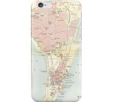 Vintage Map of Bombay India (1893) iPhone Case/Skin