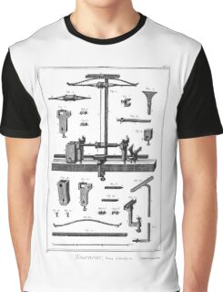 Diderot 18th Century Print - Tourneur - Lathe Turner Graphic T-Shirt