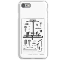 Diderot 18th Century Print - Tourneur - Lathe Turner iPhone Case/Skin