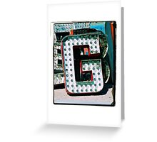 The Letter G Greeting Card