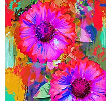The Painter's Flowers Photographic Print