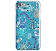 happy frozen blue bugs iPhone Case/Skin