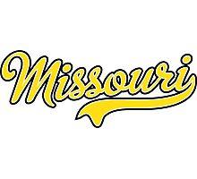 Missouri Script Yellow  Photographic Print
