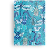 happy frozen blue bugs Metal Print