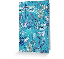happy frozen blue bugs Greeting Card
