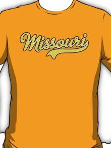 Missouri Script Yellow  T-Shirt