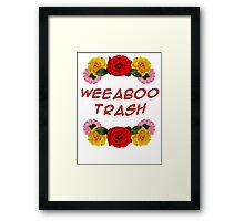 Weeaboo Trash Framed Print