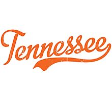 Tennessee Script Orange VINTAGE Photographic Print