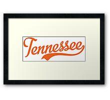 Tennessee Script Orange  Framed Print