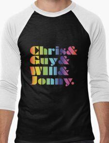 Coldplay Band Members Men's Baseball ¾ T-Shirt