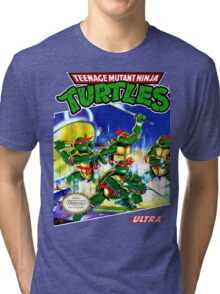 Teenage Mutant Ninja Turtles NES cover Tri-blend T-Shirt