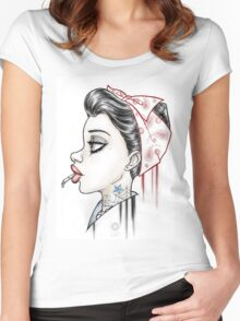 Vintage Girl Women's Fitted Scoop T-Shirt