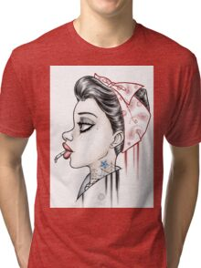 Vintage Girl Tri-blend T-Shirt
