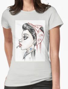 Vintage Girl Womens Fitted T-Shirt