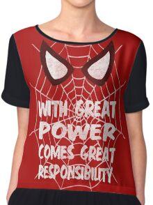 Spiderman Quote Chiffon Top