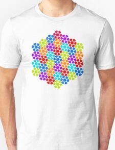 Multi-Colored Flower Pattern Unisex T-Shirt