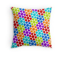 Multi-Colored Flower Pattern Throw Pillow