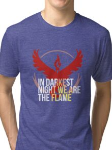 Team Valor - In Darkest Night We are the Flame Tri-blend T-Shirt