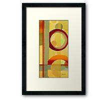 Red Ring Framed Print