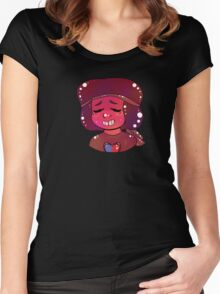 Steven Universe - Ruby Smiles  Women's Fitted Scoop T-Shirt
