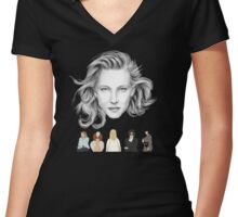Cate Blanchett Films Women's Fitted V-Neck T-Shirt