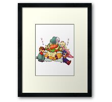 Bowser Mario Mallow Peach and Geno Framed Print