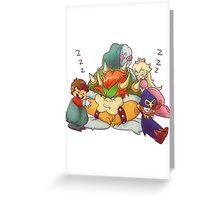 Bowser Mario Mallow Peach and Geno Greeting Card