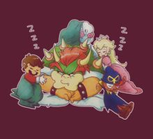 Bowser Mario Mallow Peach and Geno T-Shirt