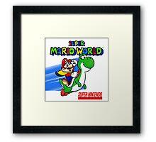 Super Mario World SNES Framed Print