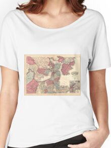 Vintage Map of Boston Massachusetts (1871) Women's Relaxed Fit T-Shirt
