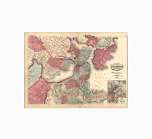 Vintage Map of Boston Massachusetts (1871) Unisex T-Shirt