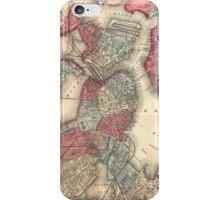 Vintage Map of Boston Massachusetts (1871) iPhone Case/Skin