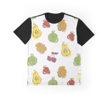 Cute pattern with watercolor painted fruit Graphic T-Shirt