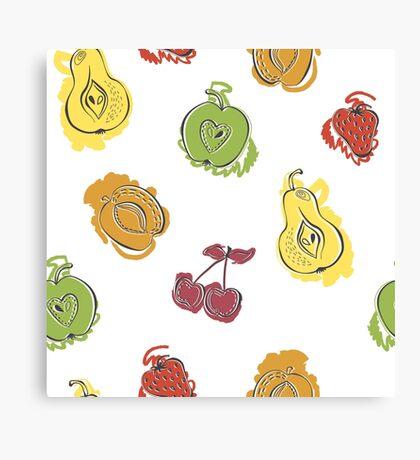 Watercolor fruit Canvas Print