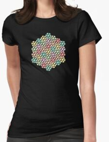 Pastel Flowers Womens Fitted T-Shirt