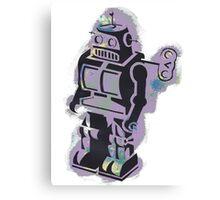 Robot Stencil Canvas Print