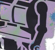 Robot Stencil Sticker