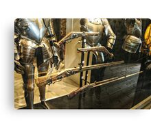 Antique Guns and Medieval Armour Canvas Print